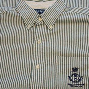 Ralph Lauren Embroidery Athletic Club Stripe shirt